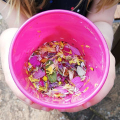 Potion making in the garden