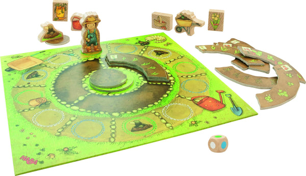 HABA My Very First Games Little Garden open game with board, vegetable beds and wooden figurines