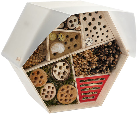 HABA Assembly Kit Insect Hotel after being assembled