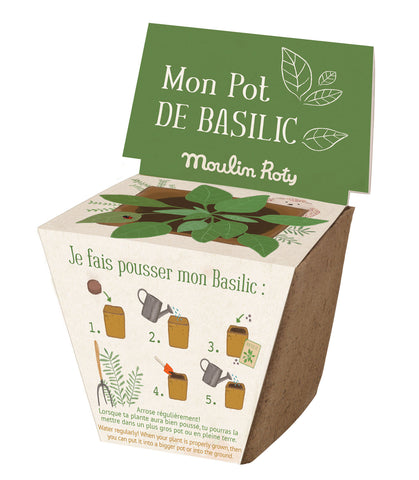 Moulin Roty Pot of Basil Seeds from Le Jardin du Moulin collection