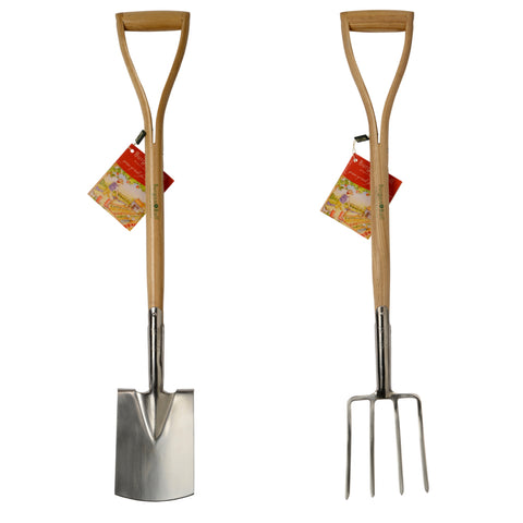 Burgon and Ball digging fork and spade set for children