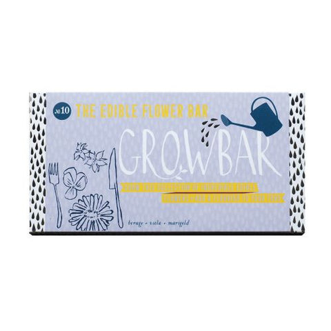 Edible flowers growbar front pack