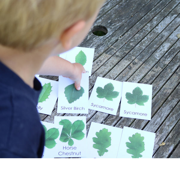 Child playing with Little Robin Education Leaf Flashcards