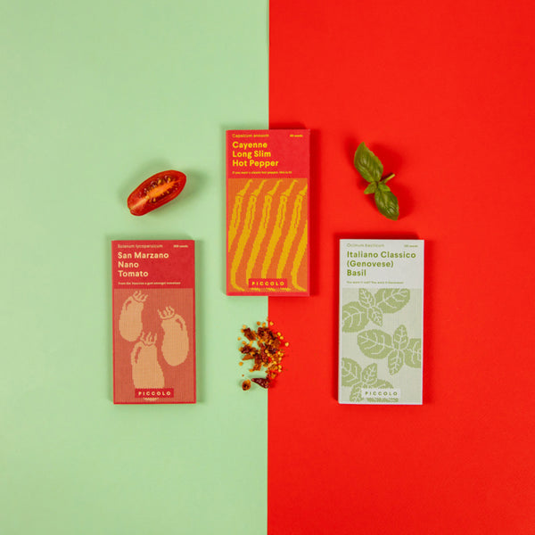 Piccolo Tomato Sauce Seed Collection packets
