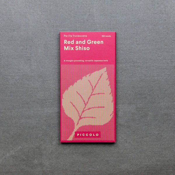 Red and Green Mix Shiso seed packet
