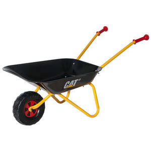 Small CAT Rolly Toys children wheelbarrow in black, yellow and red.