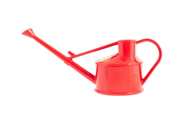 The Langley Sprinkler Watering Can in red