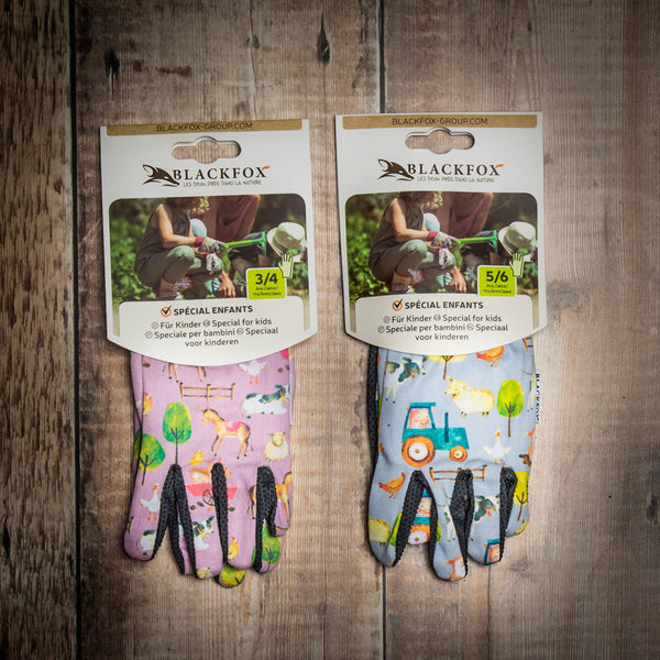 Blackfox children gardening gloves contained in Young Gardener Starter Kit