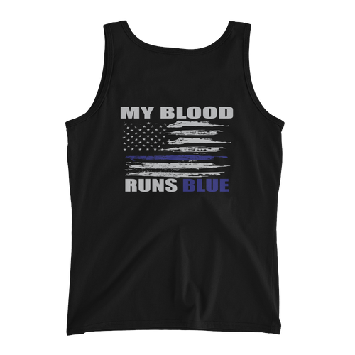 My Blood Runs Blue Ladies' Tank