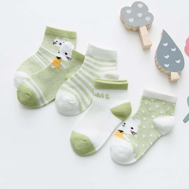 5 Pairs Cotton Baby Socks