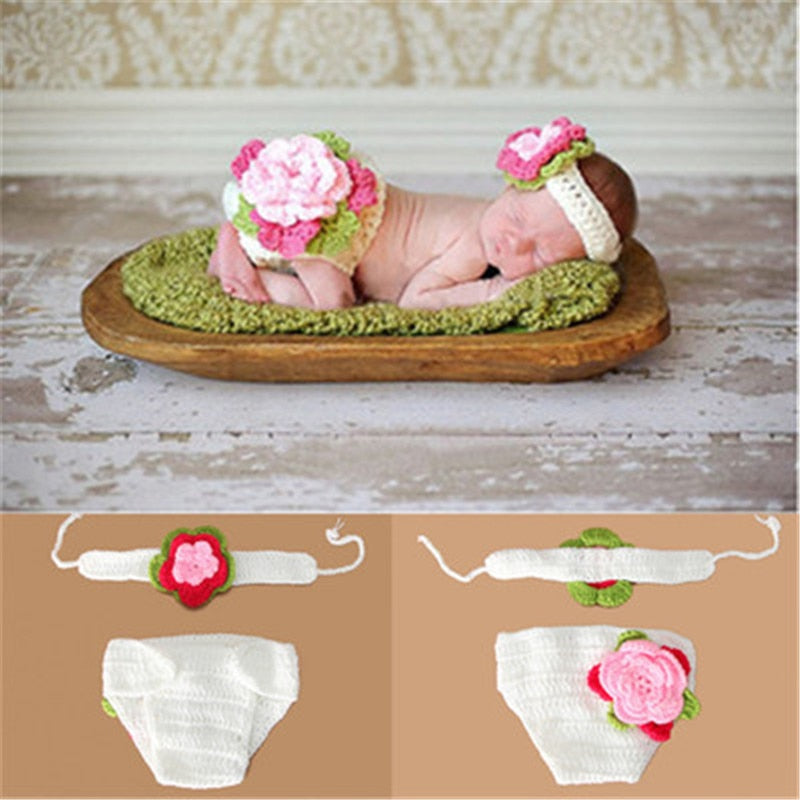 Newborn Baby Crochet Knit Costume