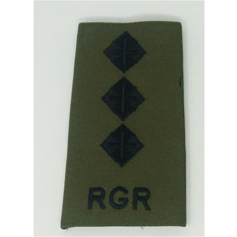 Rank Slides - Royal Gurkha Rifles - Olive - Commissioned Officers