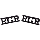 RGR - Shoulder Titles - Black - Spike & Clutch - Pairs