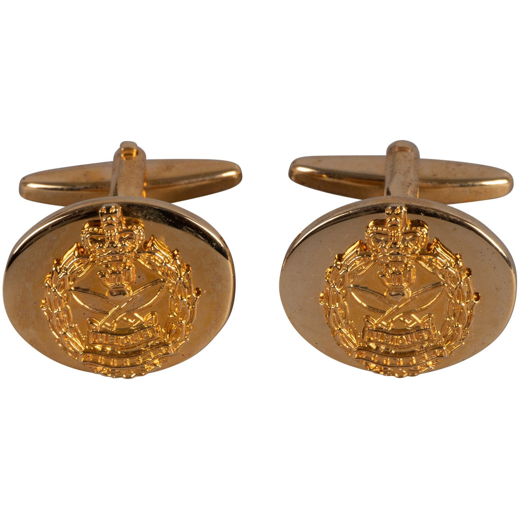 QGE Gilt Mounted Cufflinks - Pairs - Boxed