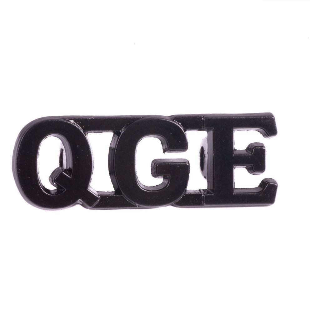 QGE - Shoulder Titles with Shank - Black - Pairs