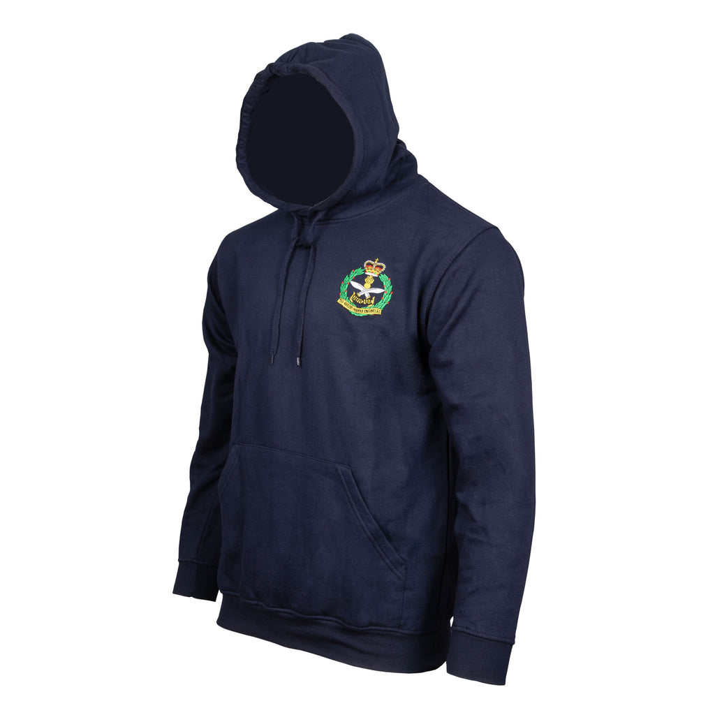 QGE Navy Hoody with Embroidered Cap Badge