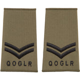 QOGLR Olive Rank Slides - Other Ranks