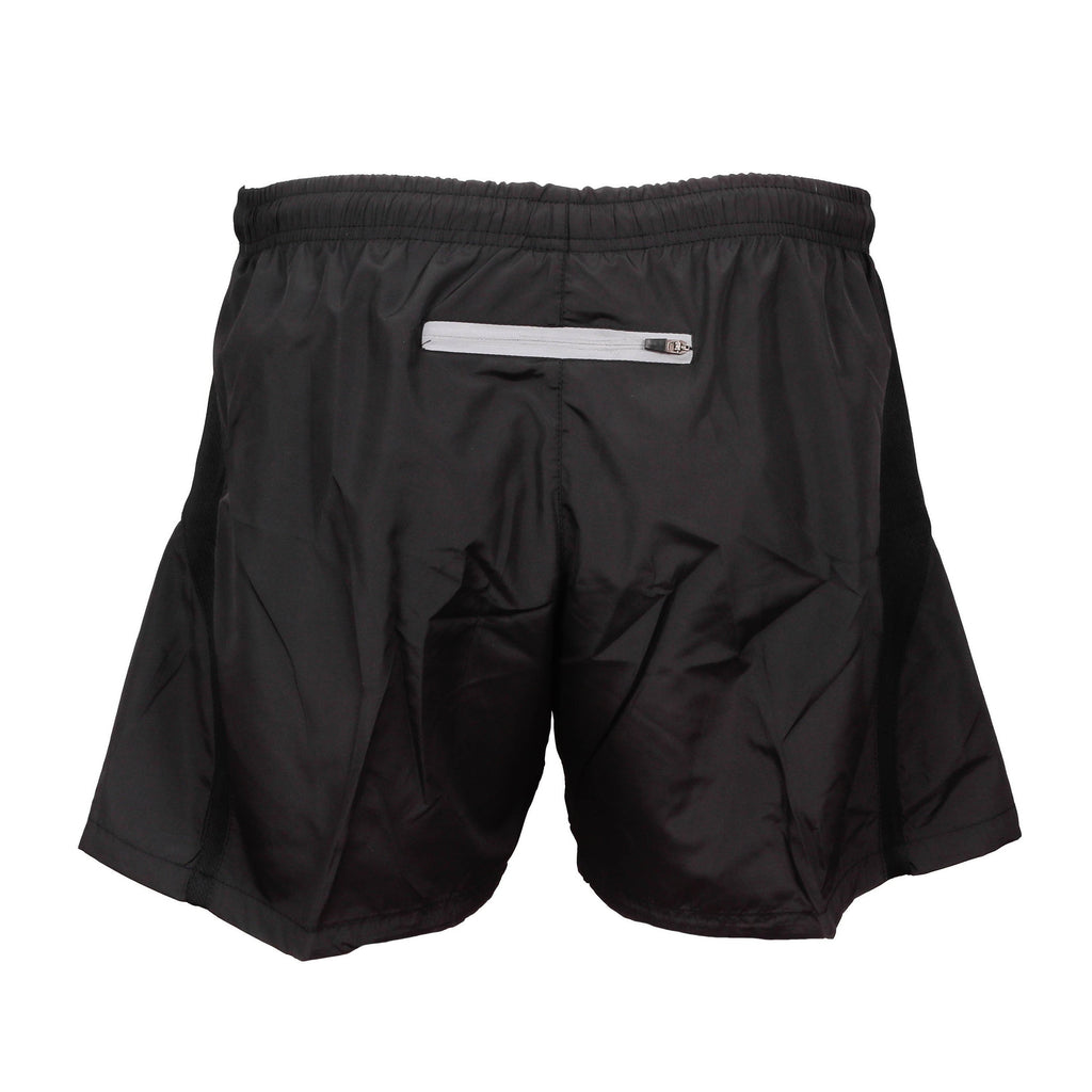 QOGLR PT Black Shorts with Cap Badge and Text