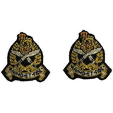 Mess Dress Collar Badges - Gurkha (SPS) - Black Backing
