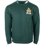 GSPS Rifle Green Sweatshirt with Regimental Crest    Ayo Gurkha