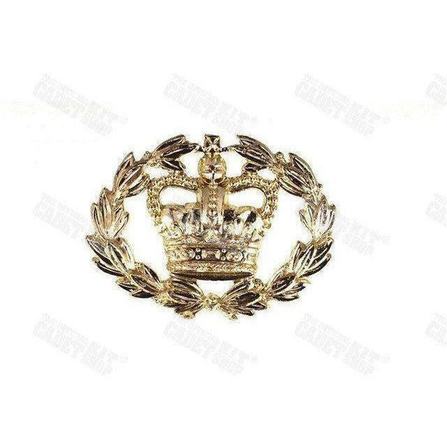 RQMS Brass Rank Badge, Back Plate & Shanks