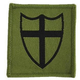 TRF - 8 Force Eng Brig - Shield Olive - 50 x 50mm