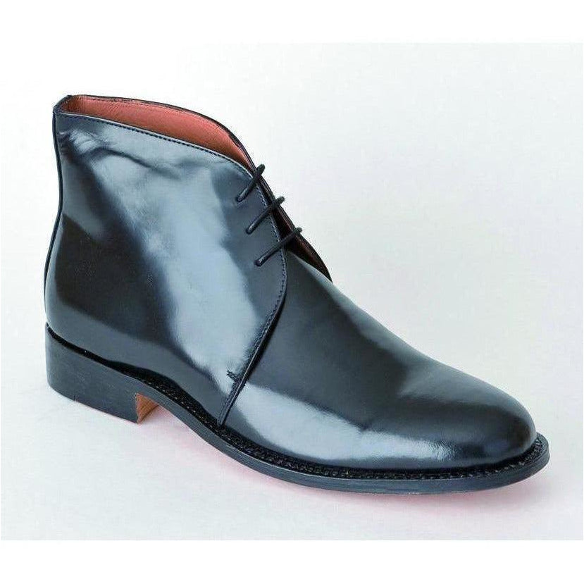 George Boot - Black Leather with box    Ayo Gurkha