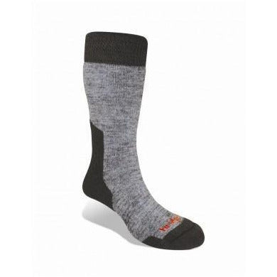 Socks- Bridgedale Merino Fusion - Hiker - Junior - Grey/Black - Extra Large - Combat Boots - Accessories