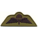 Badge - Para Wings - Black on Olive (subdued)    Ayo Gurkha