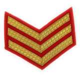 Mess Dress Chevrons - Gold on Scarlet