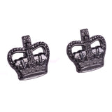 Metal Crown  (3/8) - Black - Spike & Clutch - Pairs