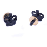 Metal Crown (3/8) - Black - Screw Fitting - Pairs