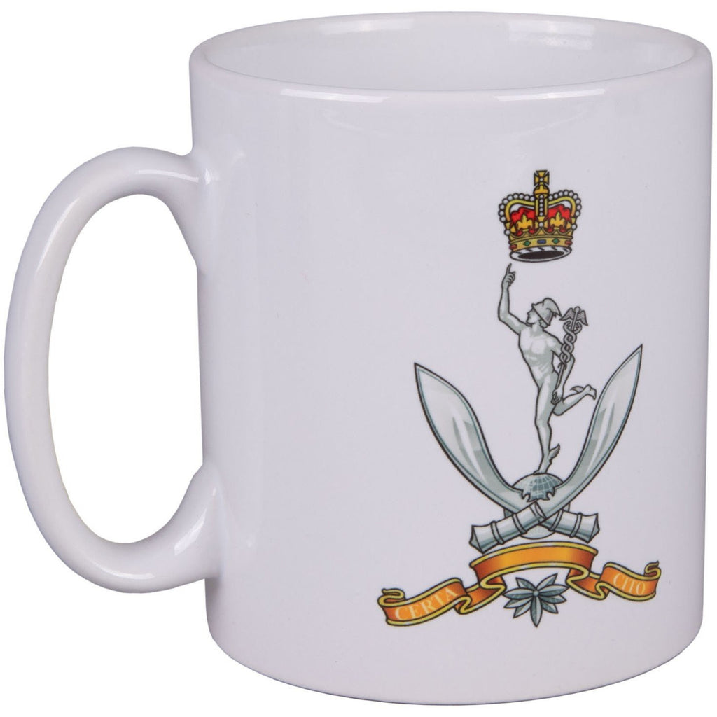 White Mug with QGS Cap Badge
