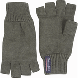 Green Fingerless Mitts    Ayo Gurkha