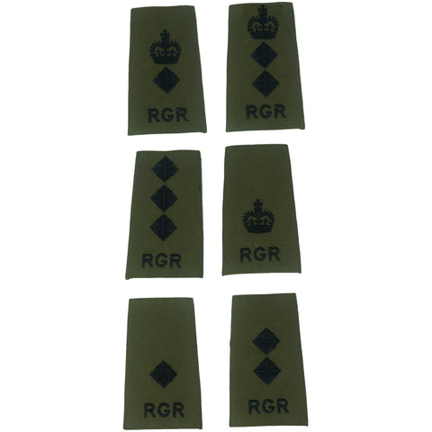 Rank Slides – Royal Gurkha Rifles – Olive – Commissioned Officers