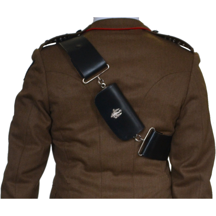RGR Officers Pouch Belt Set - Silver Plated