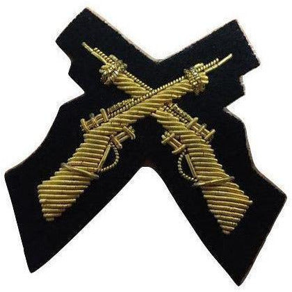Mess Dress - Qualification Badge  - Skill-At-Arms  (X Rifles)  - Black Ground