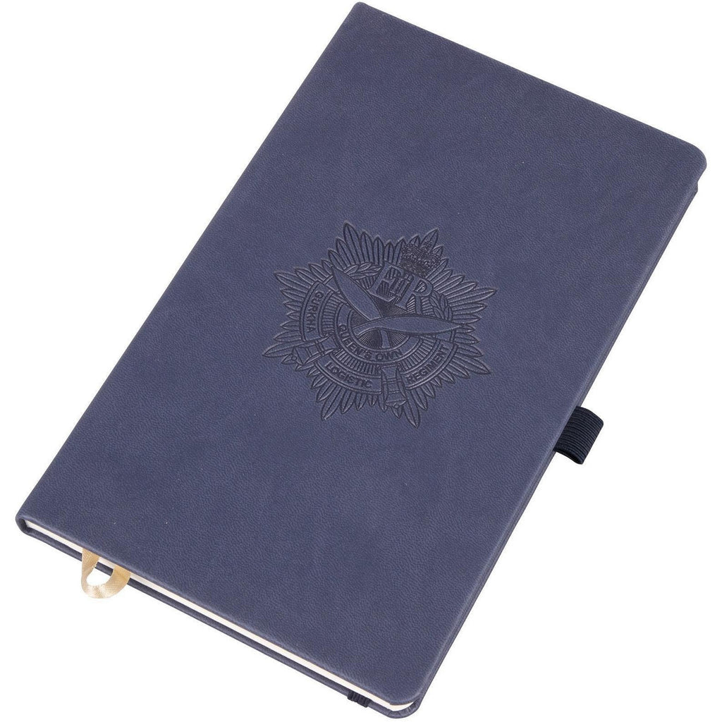 QOGLR - A5 Blue Hardback Embossed Tuscon Notebook - Lined
