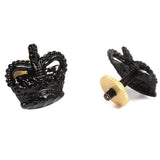Metal Crown - 5/8 - Black - Screw Fitting