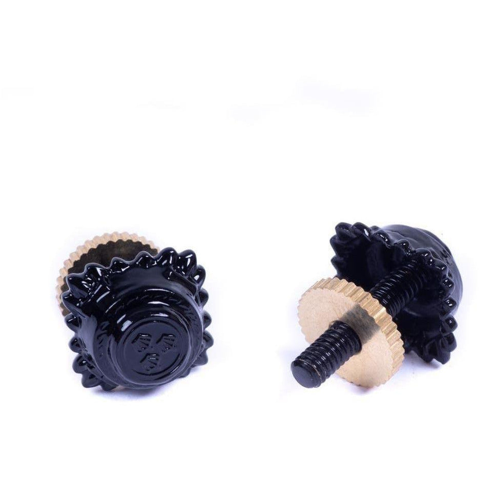 Metal Pip - 3/8 - Black - Screw Fitting