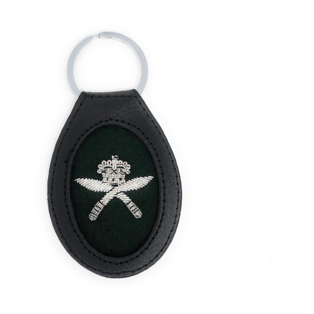 Royal Gurkha Rifles RGR Leather Embroidered Key Fob