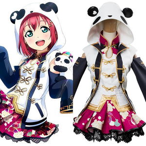 LoveLive Aqours China Dress Ver Ruby Kurosawa SSR Cosplay Costume