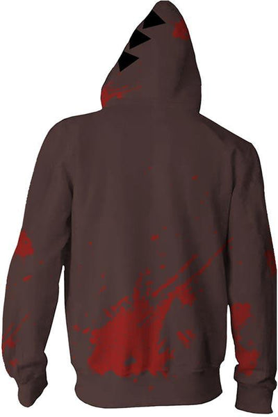 Angels of Death Hoodie Merchandies Isaac·Foster Zack 3D Zip Up Sweatshirt Unisex