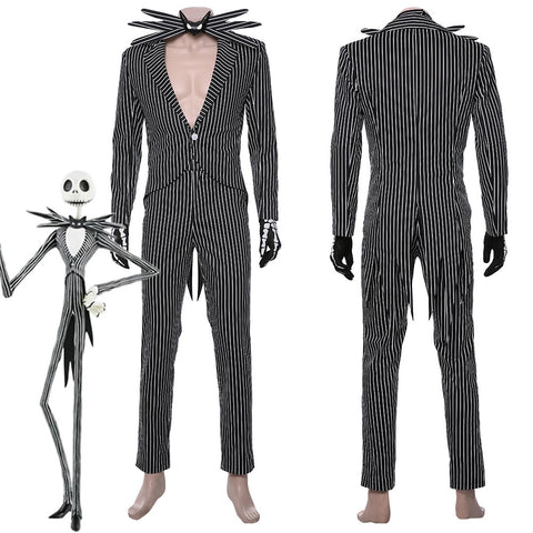 The Nightmare Before Christmas Jack Skellington Outfit Cosplay Costume