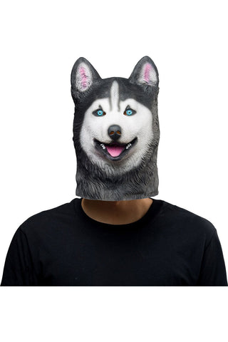 Siberian Husky Dog Mask Halloween Animal Latex Masks Adult Cosplay Props