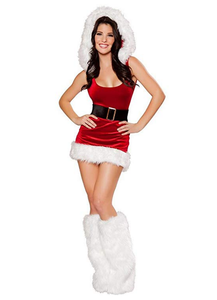 Women Sexy Mrs Santa Claus Cosplay Costume Christmas Party Outfit Fancy Dress
