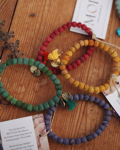 Armband Recycle Lila