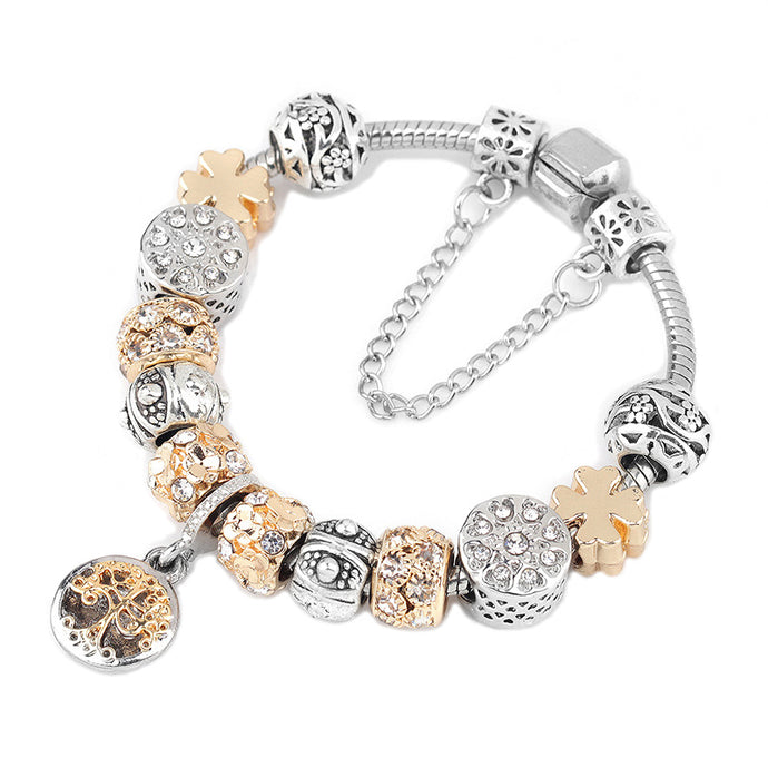 IVA Crystal Tree of Life Charm Bracelet