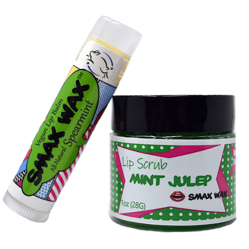 Mint Lip Balm and Lip Scrub Set - Smax Wax