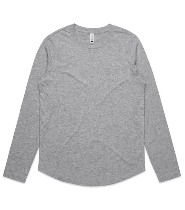 4055 Curve Long Sleeve Tee Grey